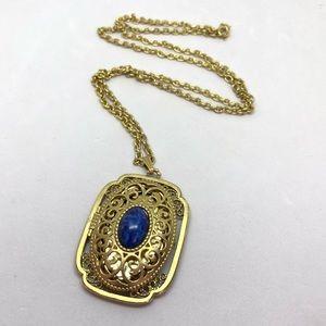 🆕Vintage Avon Antique Gold & Blue Locket